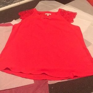 Red blouse by Maurice's